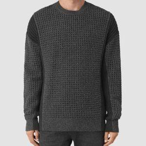 AllSaints Iden Crew Oversized Wool Sweater   XL